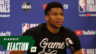 Giannis' Reaction: They Are My Brothers, That's Why I Want To Hug Them. | 7.19.21
