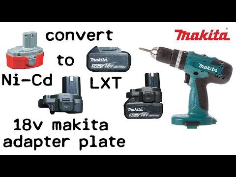 Makita 8319 Ni-Cd to Li-Ion Conversion Using Adaptor - Adapt Ni Cad Drill to LXT Lithium Ion Battery