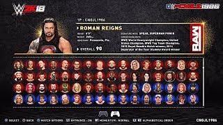 WWE 2K18 PC GAME ROASTER