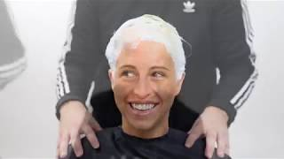 Create The White-Blonde Hair Color Technique