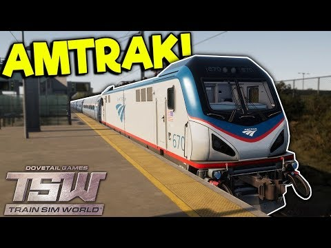 NOOB DRIVES AMTRAK TRAIN INTO NEW YORK! – Train Sim World Gameplay – Train Simulator 2018