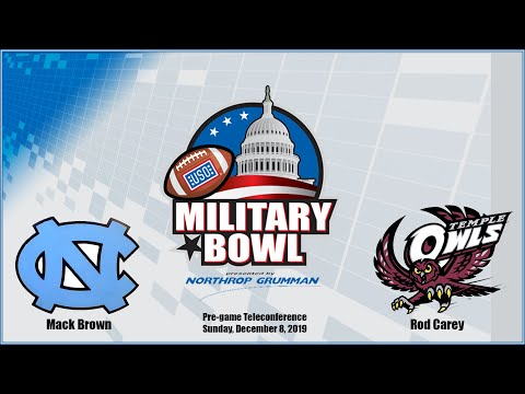 Mack Brown and Rod Carey Military Bowl Conference Call