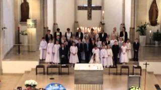 preview picture of video 'Kommunionlied 2014 Wir sind Kinder in Gottes Garten - St. Ludgerus, Schermbeck'