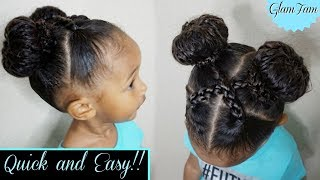 Quick And Easy Hairstyle For Kids! | Childrens Hairstyles | GlamFam