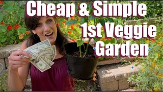 A Cheap & Simple Way to Plant Your First Vegetable Garden / Spring Garden Series #11