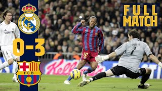 FULL MATCH: Real Madrid 0 - 3 Barça (2005) RELIVE RONALDINHO'S GREATEST GAME AT FC BARCELONA!