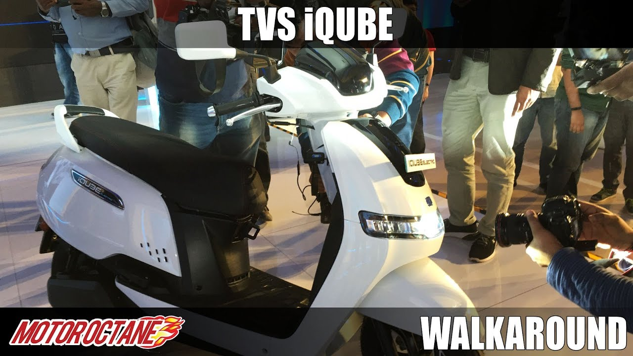 Motoroctane Youtube Video - TVS iQube Electric Walkaround | Hindi | MotorOctane