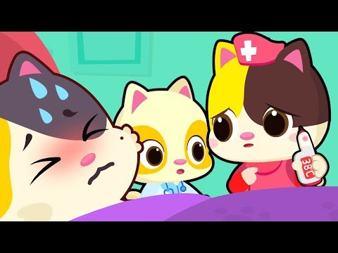 kitten doctor takes care of mommy doctor visit sick song nur