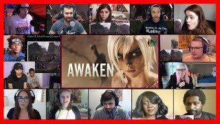 SUPER VERSION! Awaken (ft  Valerie Broussard) - League of Legends Cinematic REACTIONS MASHUP