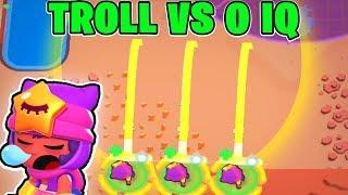 NEW BRAWLER SANDY! :: TROLL Vs 0 IQ