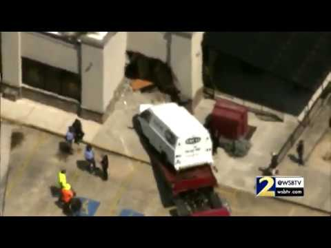 RAW: Car slams into Moe's after serious 7-vehicle crash