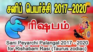 SaniPeyarchi2017 : ரிஷப ராசிக்கான பலன்கள்
