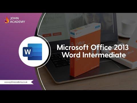 Microsoft Office 2013 Word Intermediate - Complete Video Course ...