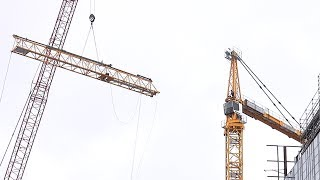 Disassembly of a tower crane, as seen from below - We bid farewell to tower crane #2