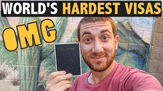 World's HARDEST VISAS (which one cost $3,000?!)