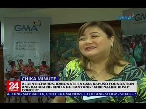 """[GMA]  Alden, idinonate sa Kapuso Foundation ang bahagi ng kinita ng kanyang """"Adrenaline Rush"""""""