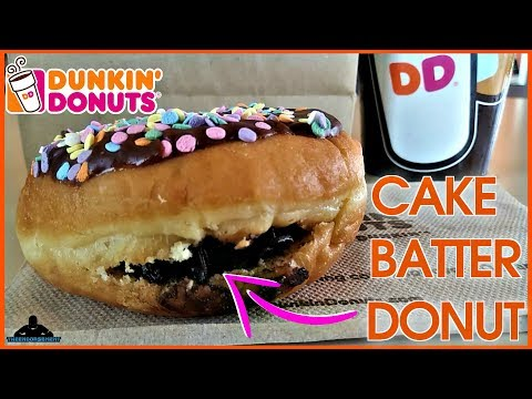 Dunkin' Donuts® | Chocolate Cake Batter Donut Review! 🍫🎂🍩