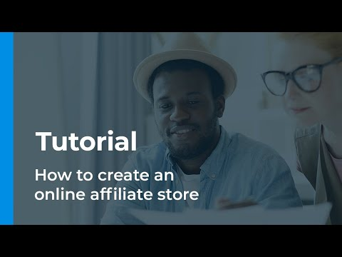 How to create online affiliate store - Tutorial