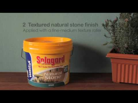 Wattyl Solagard DIY Texture Natural Stone How To Video