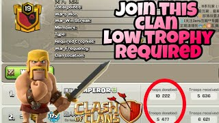 How to join in high level clan with low trophies in clash of clans by clash with nakul