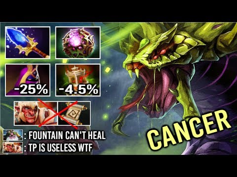 EBOLA IS BACK! Even Fountain TP Can't Help vs Imba Venomancer Scepter OC Most Cancerous Hero Dota 2