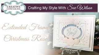 How To Make A Christmas Rose Card | Crafting My Style With Sue Wilson