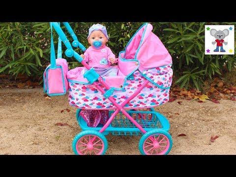NUEVO CARRO DE PASEO de la Bebé BABY BORN y Preparo el Bolso Cambiador o Pañalera para ir al Parque