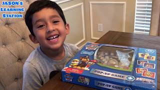 How to play the Pop-Up Game with Jason- Paw Patrol