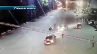 Мотоциклист сбил инспектора ГИБДД. Видео!