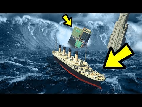 GTA 5 - The BIGGEST Tsunami vs. TITANIC!