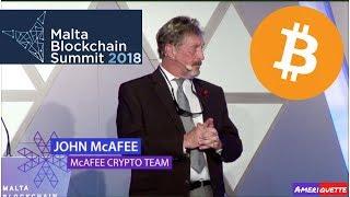 John McAfee Speech at Malta Blockchain Summit 2018