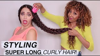 Styling SUPER LONG Curly Hair Ft. SWOOP! | BiancaReneeToday