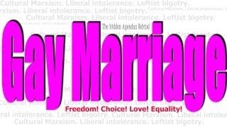 The Hidden Agenda Behind Gay Marriage