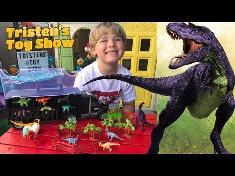 Tuko Dinosaur Car Toys Diecast Transport Carrier Truck Playset Jurassic World Dino Toys