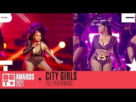 "City Girls Perform Their Hit Summer Track ""Twerkulator"" Performance   BET Awards 2021"