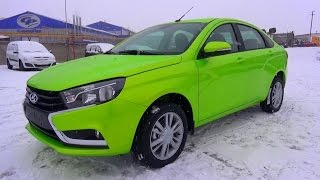 2015 Lada Vesta. Start Up, Engine, and In Depth Tour.