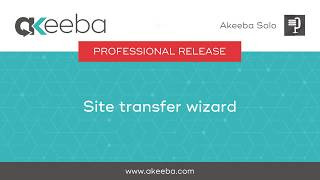Watch a video on Site Transfer Wizard [03:01]