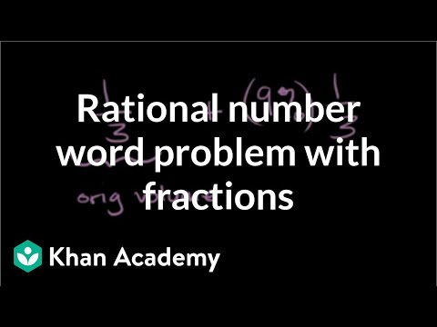 DEPRECATED Rational number word problems