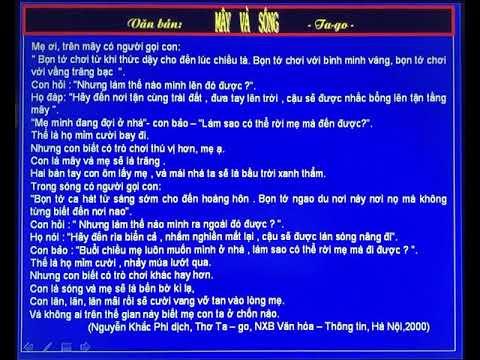 Bài giảng môn Ngữ Văn 9: Mây và Sóng - Tango -GV: Lê Thị Trang