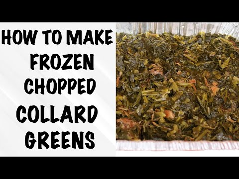 How To Make Frozen Chopped Collard Greens | QUICK COOKING RECIPE TUTORIAL | ITS THE BURKE FAMILY
