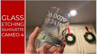Glass Etching Custom Glasses With The Silhouette CAMEO 4