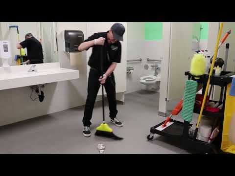 Janitorial Restroom Cleaning Step-By-Step Training - YouTube