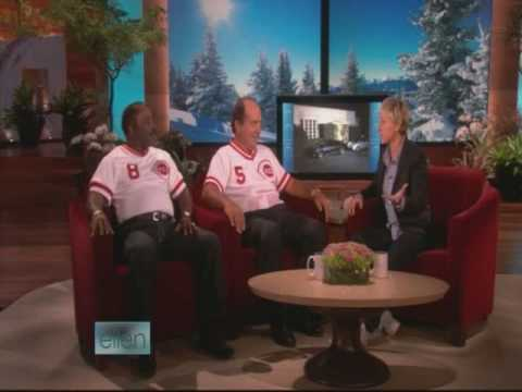 Joe Morgan & Johnny Bench From Cincinnati Reds On Ellen Show 1/19/2009