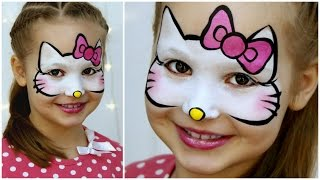 Hello Kitty Makeup For Kids — Fast & Easy Face Painting Tutorial