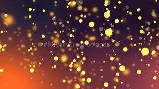 Christmas golden bokeh video | abstract golden bokeh particles | golden bokeh motion background loop