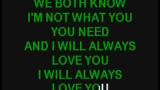 Смотреть онлайн Караоке Whitney Houston - I Will Always Love You