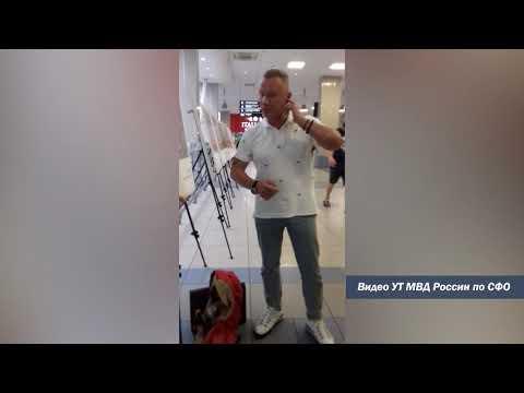В аэропорту Толмачёво житель Москвы задержан за мелкое хулиганство и оскорбление сотрудников полиции