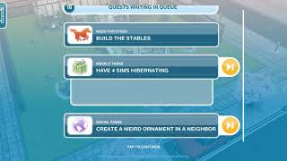 Have 4 Sims Hibernating   The Sims FreePlay