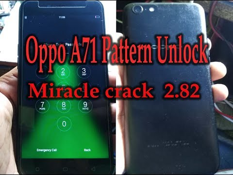 REMOVE PATTERN LOCK OR FRP LOCK OPPO A71 (QLM) MIRACLE BOX