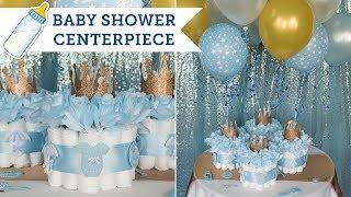 Diaper Cake Centerpieces For A Baby Shower | BalsaCircle.com